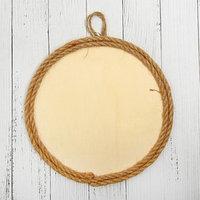 Основа для творчества и декорирования 'Круг с рамкой из верёвки' D 20 см