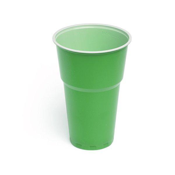 Стакан для холодных напитков, 0.5л, зеленый-белый, 6 шт