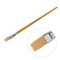 Кисть 'Сонет' 10, щетина, плоская, длинная ручка, d17 мм
