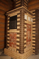 Печь  Тройка. 06-ГТ 60 на газу под облицовку для коммерческих бань. (20-40м3). Горелка в комплекте, фото 1