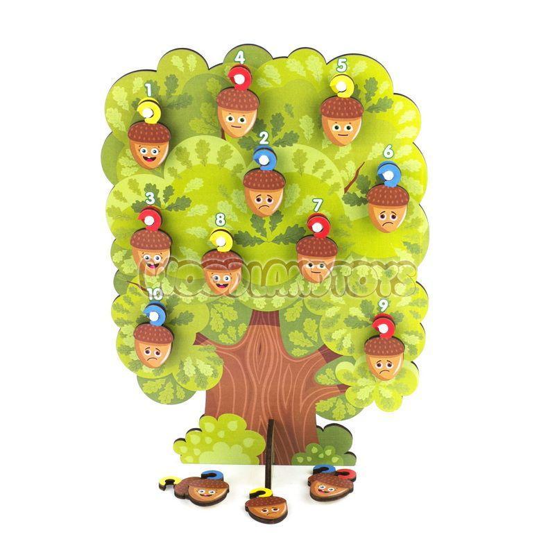 """Woodland Деревянная игрушка """"Сортер-дерево: Дуб"""""""