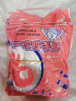 Перчатки сервисные (полиэтиленовые) 100 шт/уп, фото 2