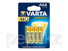 Батарейка мизинец Varta Super R03 ААА, 4 шт  солевая