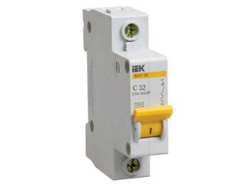 Автоматический выключатель IEK ВА47-29 (1ф)2А