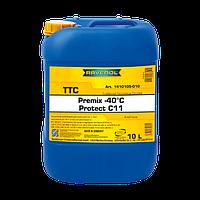 Антифриз Ravenol TTC -40°C G11 готовая жидкость желто-зеленый, флуоресцентный 10L