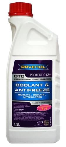 Антифриз концентрированный RAVENOL OTC Protect C12+ Concentrate 1:1 красно-лиловый 1,5L