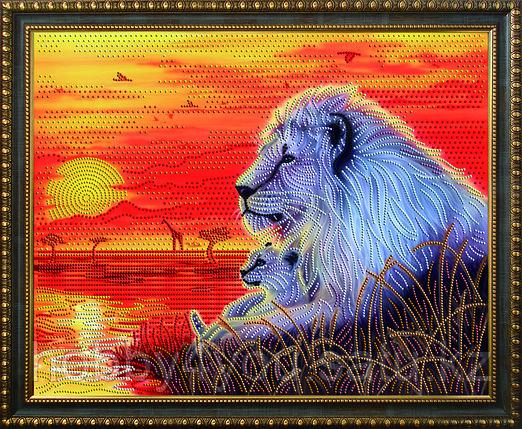 """Картина стразами """"Отец и сын"""", 40*50см, фото 2"""