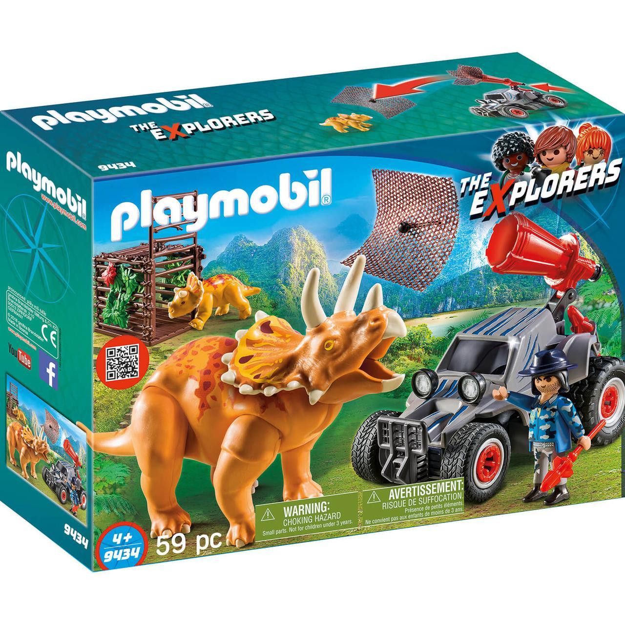 Динозавры: Вражеский квадроцикл с трицератопсом 9434pm