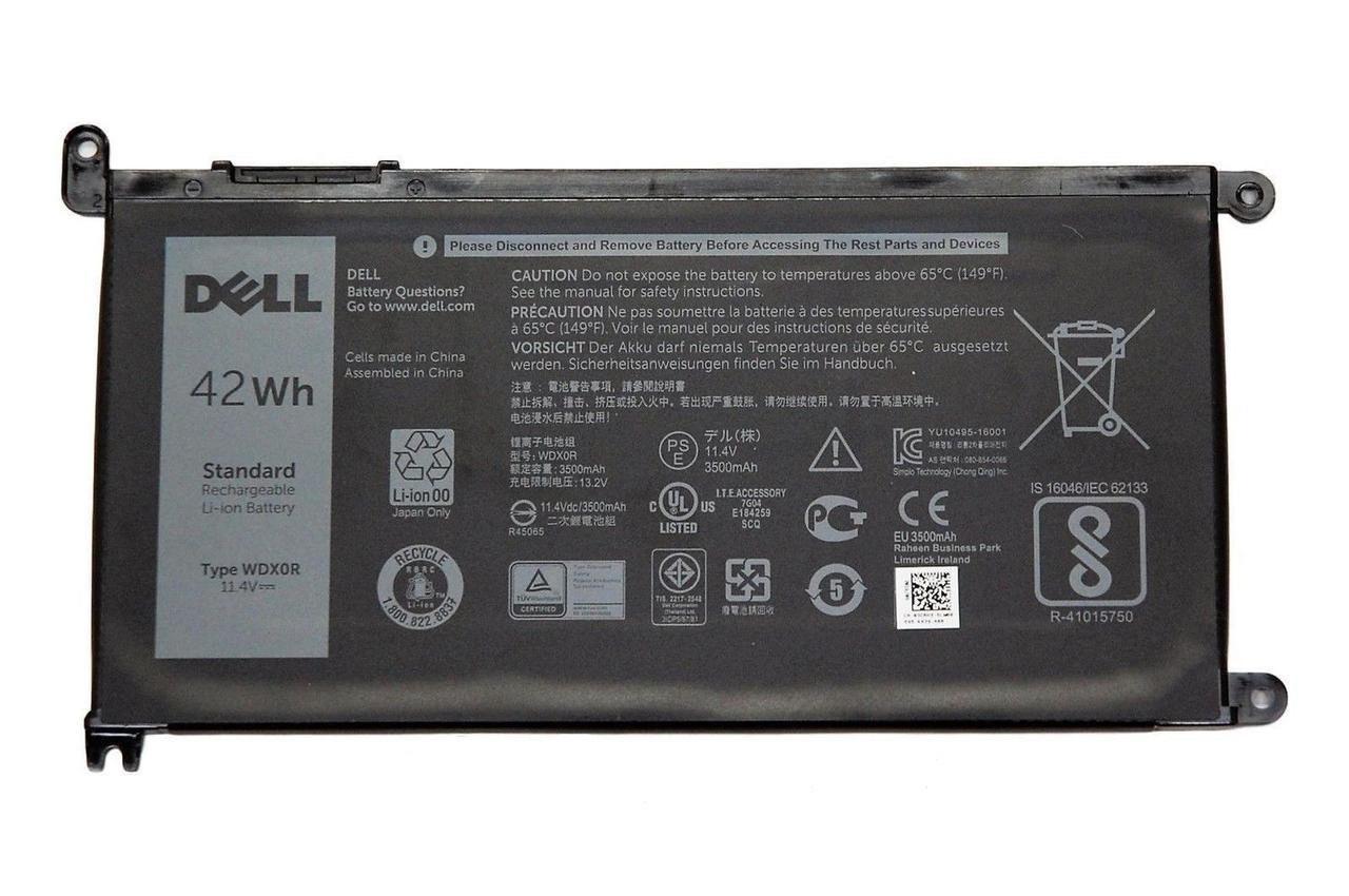Аккумулятор для ноутбука Dell 3521 (WDX0R)/ 11.4 В/ 3500 мАч, черный, ORIGINAL