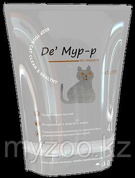 Де Мур-р , 4 л  Селикагелевый впитывающий наполнитель для кошачьих туалетов 