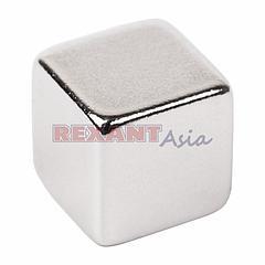 Неодимовый магнит куб 10*10*10мм сцепление 4,5 кг (Упаковка 2 шт) Rexant, (72-3210 )
