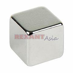 Неодимовый магнит куб 8х8х8 мм сцепление 3,7 кг (Упаковка 4 шт) Rexant, (72-3208 )