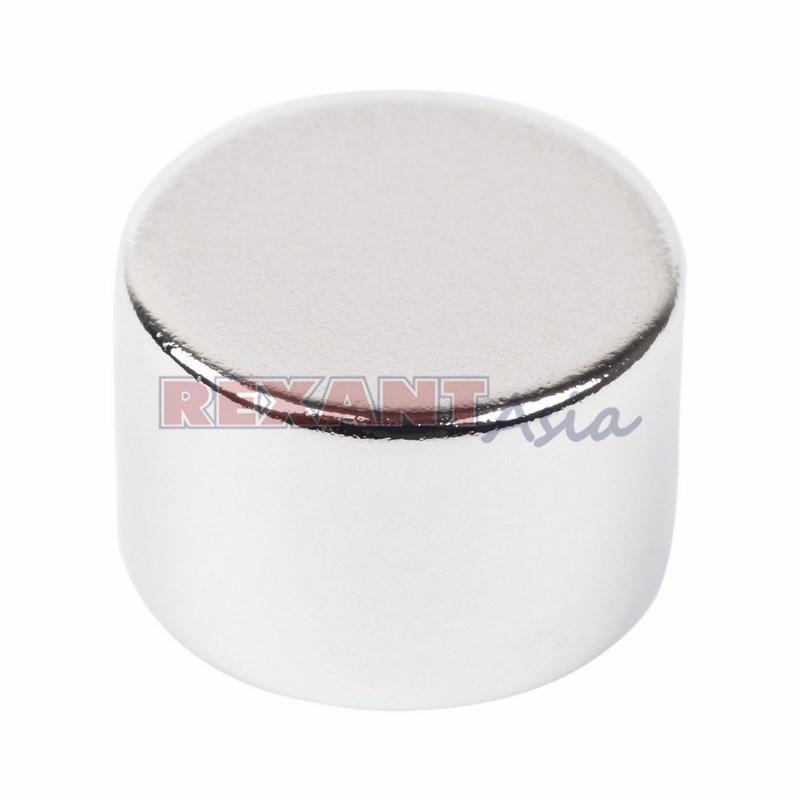 Неодимовый магнит диск 15х10мм сцепление 8 кг (Упаковка 1 шт) Rexant, (72-3135 )