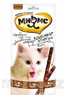 Мнямс лакомство для кошек с индейкой и ягненком, уп. 13,5 см 3*5 гр.