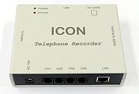 ICON TR4NS, Система записи+автоответчик,4 линии, SD карта, Ethernet, облако