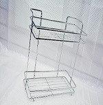 Полка квадратная для ванных комнат хром 2882 универсальный ( настенный , напольный).