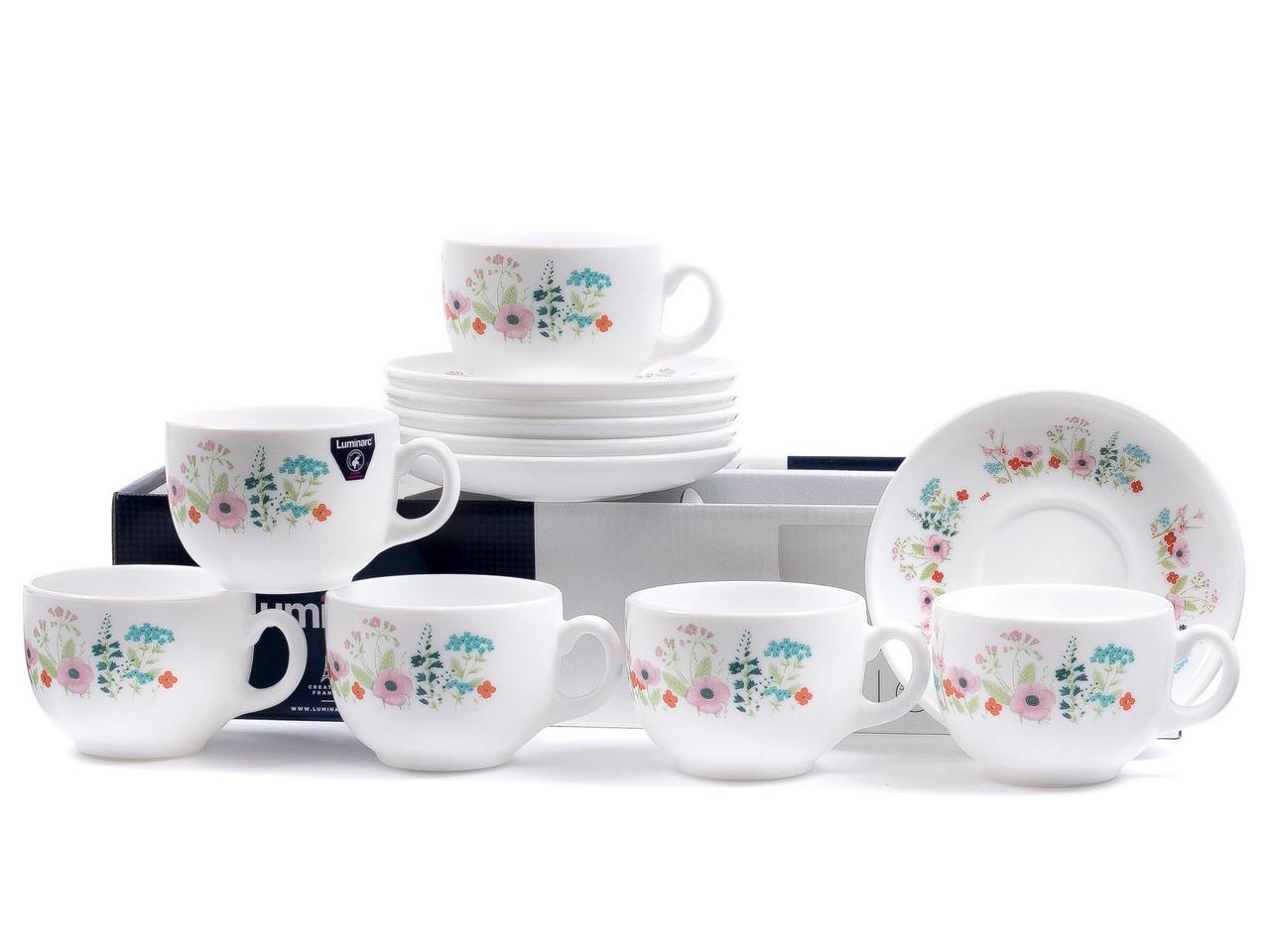 Чайный сервиз Luminarc Essence Rose Pompon (12 пр.)