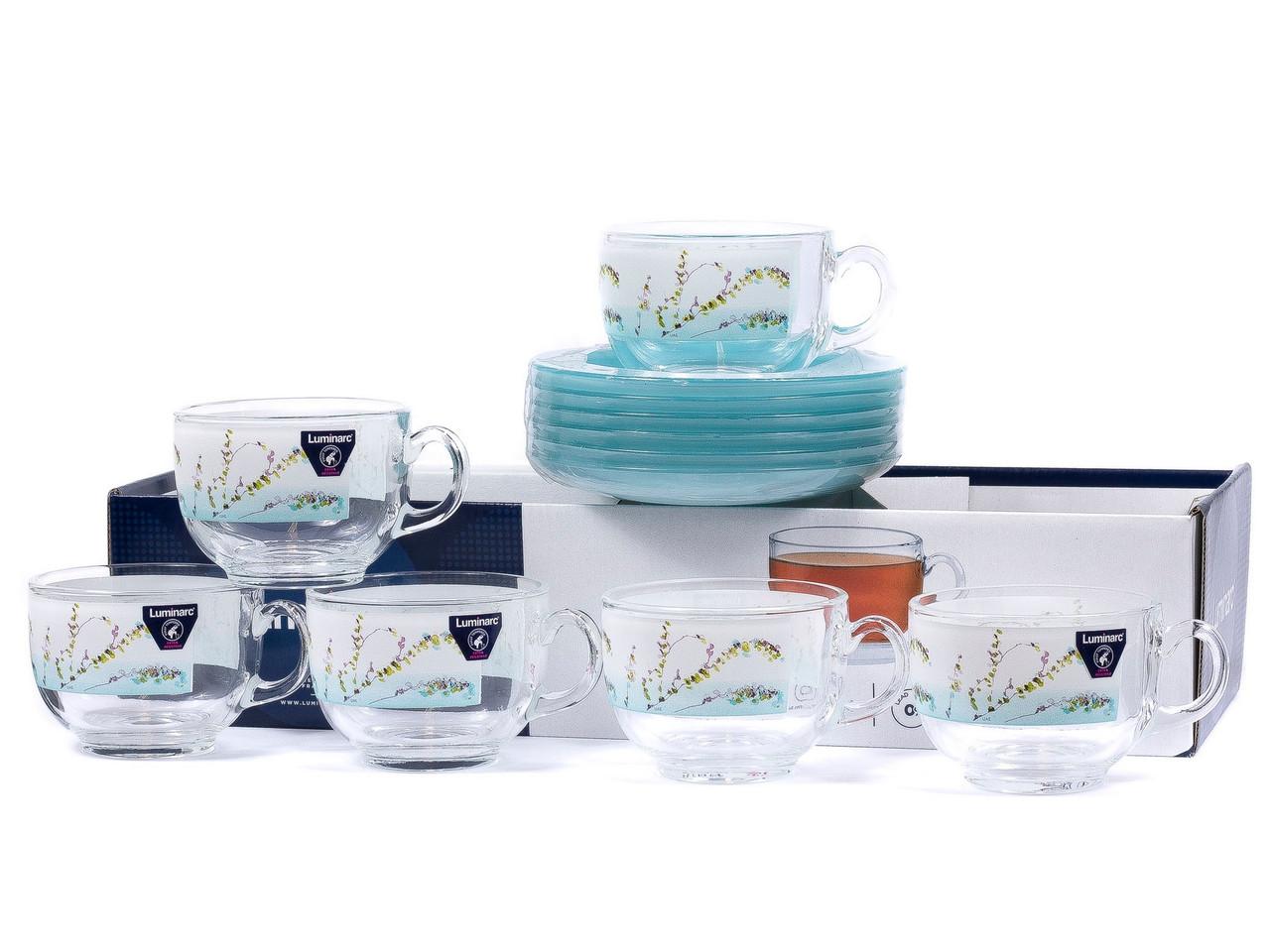 Чайный сервиз Luminarc Trompette Turquoise (12 пр.)