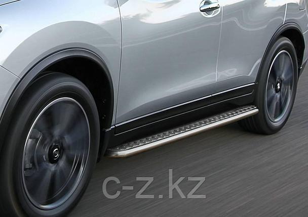 Пороги с листом d57 RIVAL для Hyundai Tucson, 2015-н.в., фото 2