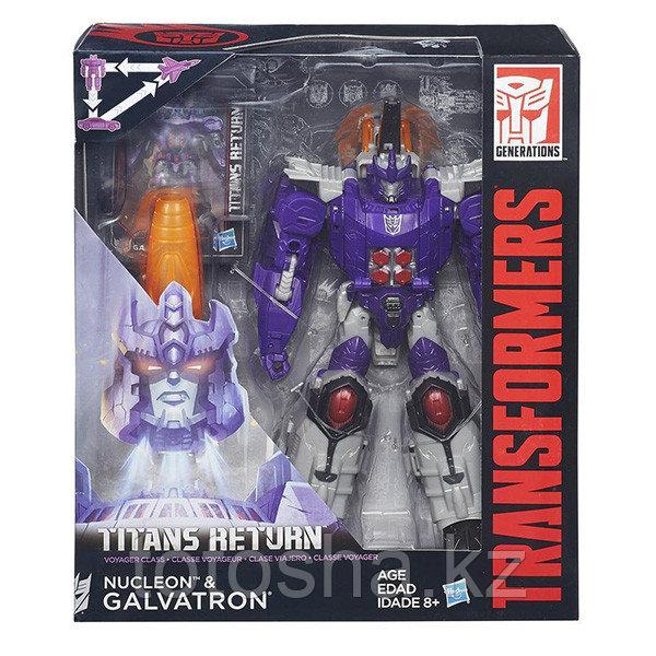 Hasbro Transformers B7769  Дженерейшенс Возвращение Титанов Вояжер Нуклеон и Гальватрон