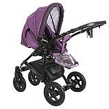 Коляска 2 в 1 Pituso Confort Фиолетовый+Кожа Тёмно-фиолетовый Рама Чёрная, фото 4