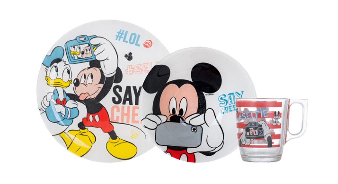 Набор Luminarc Disney Party Mickey 3 пр.