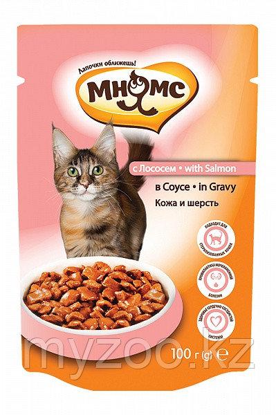 """Влажный корм с лососем в соусе для взрослых кошек """"Мнямс"""""""