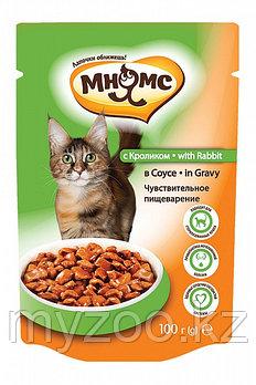 """Влажный корм с кроликом в соусе для взрослых кошек """"Мнямс"""""""