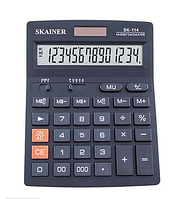 Калькулятор настольный SKAINER SK-114, 14 разрядов, 140*176*45 мм