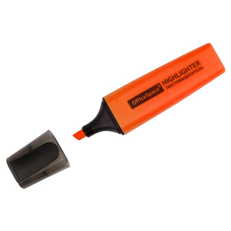 Текстовыделитель OfficeSpace 1-5 мм, оранжевый