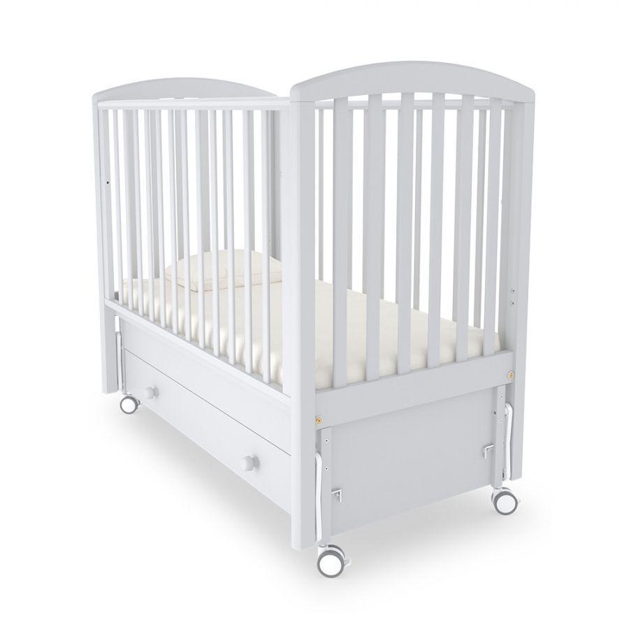 MIBB Кровать детская с маятником SUPER POP NOTTE  BIANCA Белая ночь