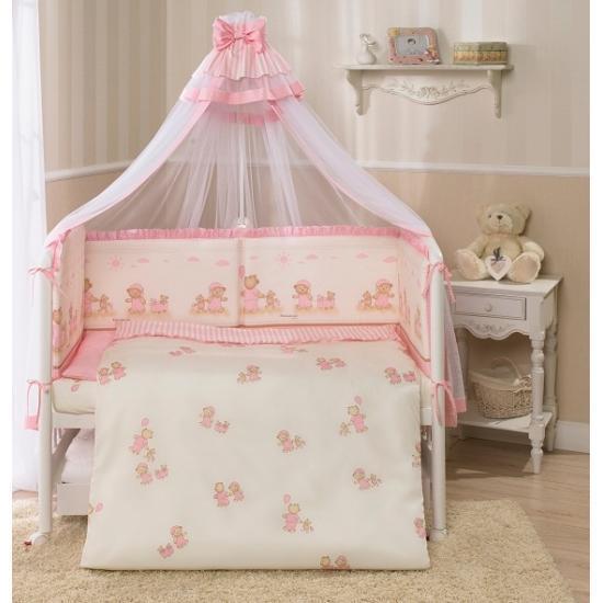 PERINA Комплект в кровать 7 предметов ТИФФАНИ  НЕЖЕНКА Молочный/розовый