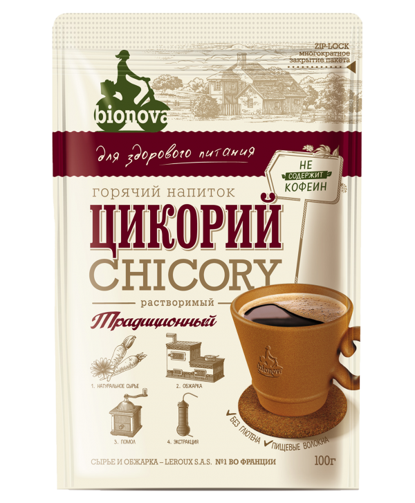 Цикорий растворимый Bionova® традиционный 100г