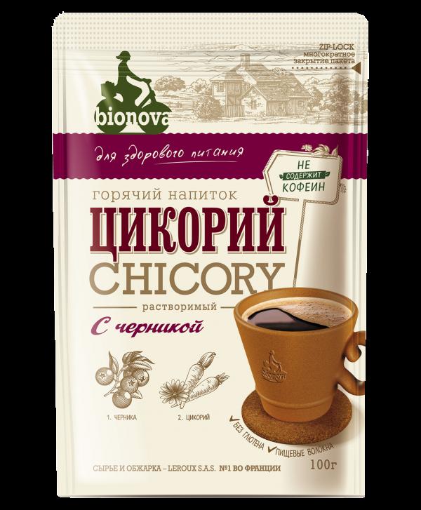 Цикорий растворимый Bionova® с черникой 100г