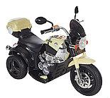 Электро-Мотоцикл AIM BEST MD-1188, 6V/4Ah*1, колеса  пластик 90х43х54 см, Черно-Бежевый