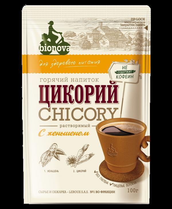 Цикорий растворимый Bionova® с женьшенем 100г