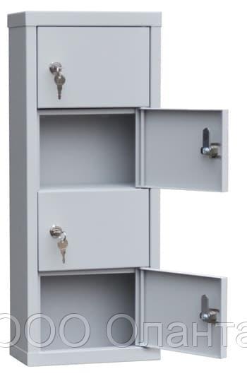 Шкаф индивидуального хранения вертикальный 4 ячейки (240х120х600) арт. ИШК 4В