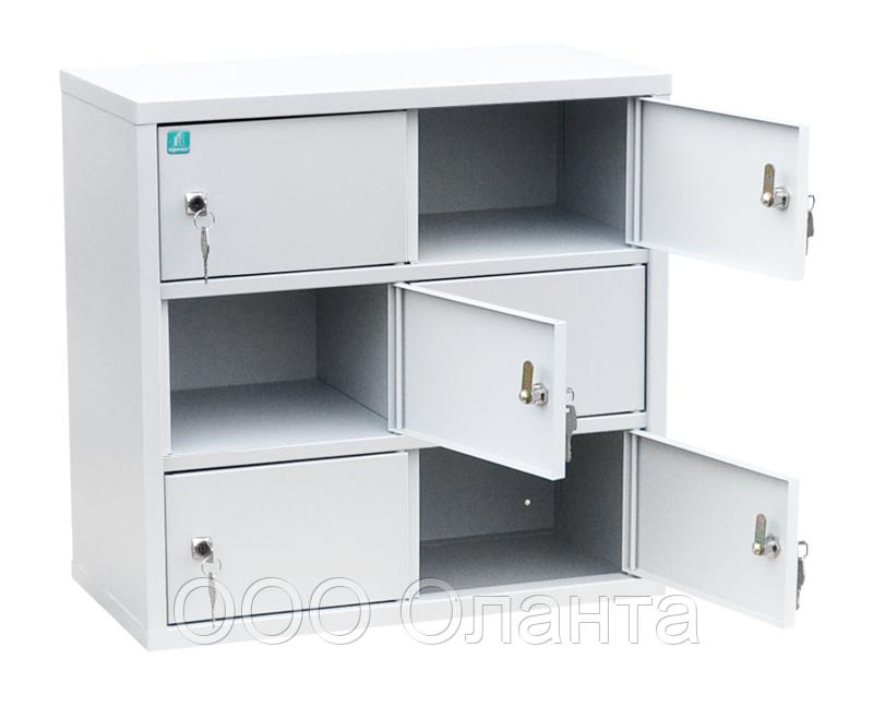 Шкаф индивидуального хранения горизонтальный 6 ячеек (600х310х585) арт. ИШК 6
