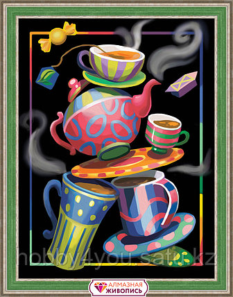 """Картина стразами на холсте """"Чайная фантазия"""", 30*40см, фото 2"""