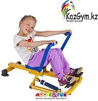 Тренажер детский механический гребной с двумя рукоятками 3-8 лет  (SH-04)