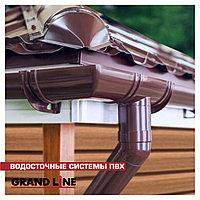 Труба водосточная Grand Line ПВХ Коричневый цвет 3,0 м D87 мм, фото 1
