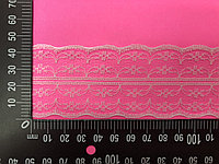 Кружевная лента-гипюр,белого цвета ,45 мм
