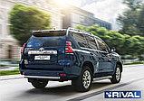 Защита порогов d42 RIVAL для Toyota Land Cruiser Prado 150 2017- н.в., фото 2