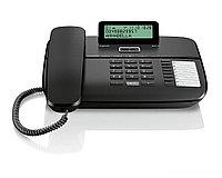 Gigaset DA710 Black, Стационарный аналоговый телефон, с дисплеем, цвет черный