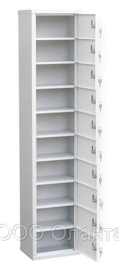Шкаф индивидуального хранения вертикальный 10 ячеек (300х220х1400) арт. ИШК 10