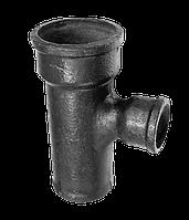 Отвод-тройник переходной чугунный канализационный 100*50
