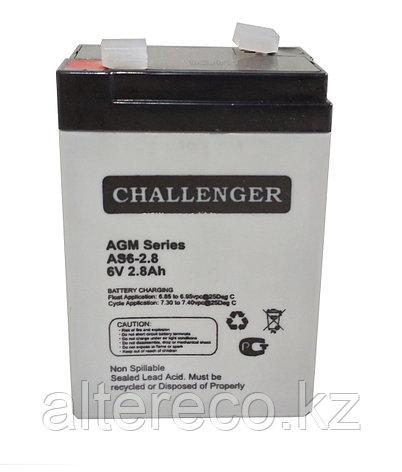 Аккумулятор Challenger AS6-2,8 (6В, 2,8Ач), фото 2