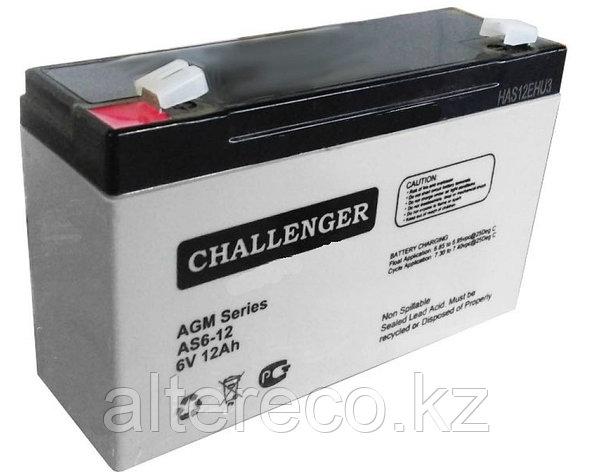 Аккумулятор Challenger AS6-12A (6В, 12Ач), фото 2