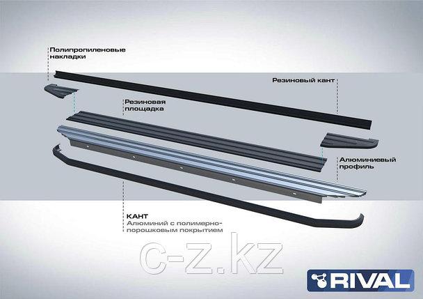 """Порог-площадка """"Premium"""", RIVAL для Hyundai Santa Fe 2012-2018, фото 2"""