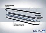 """Порог-площадка """"Premium"""", RIVAL для Hyundai Santa Fe 2012-2018, фото 3"""